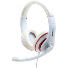 Maxxter Stereo Headset - Inclusief Microfoon   Headphone With Rotating Microphone Boom   Wit